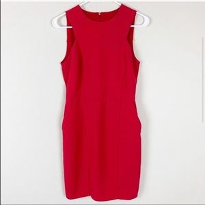 Mango Suit red sleeveless dress with pockets f20